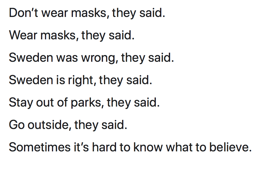 Sometimes it's hard to know what to believe.   Jennifer Margulis, Ph.D.