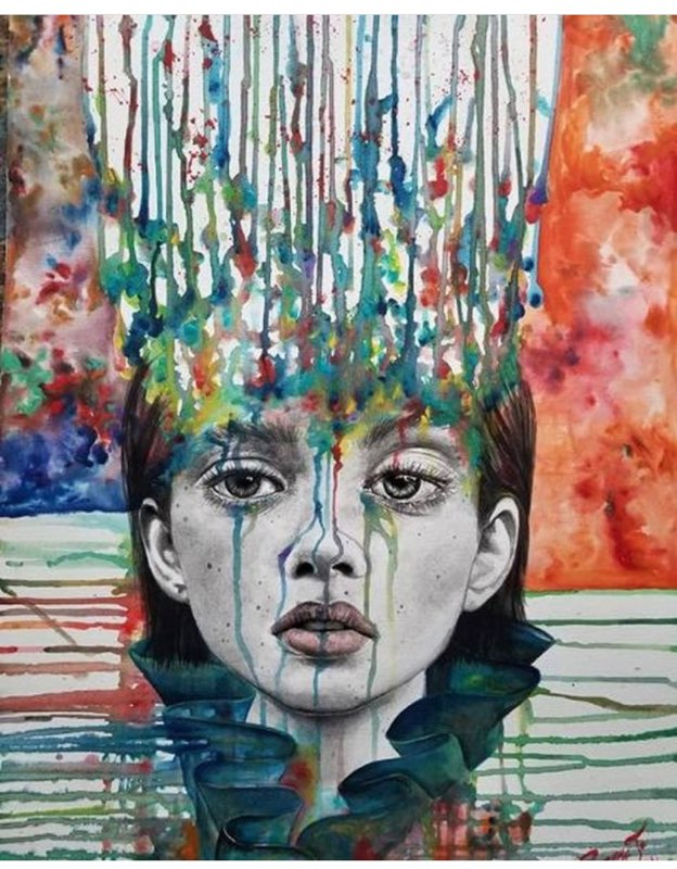 An artist's depiction of suicidal thoughts. This is how I often feel. When psychotropic drugs didn't work my therapist suggested transcranial magnetic stimulation. | via Jennifer Margulis, Ph.D.