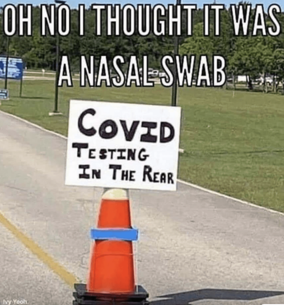 I thought it was a nasal swab...