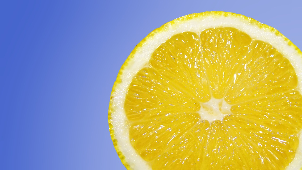 Natural treatments for coronavirus. Try these vitamins and supplements to help beat COVID-19. Photo of a lemon slice on a blue background courtesy of Pixabay. | Jennifer Margulis, Ph.D.