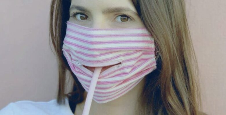 Mask safety is a growing concern. Screenshot of an advertisement from Shut Your Mouth Masks. | Jennifer Margulis, Ph.D.